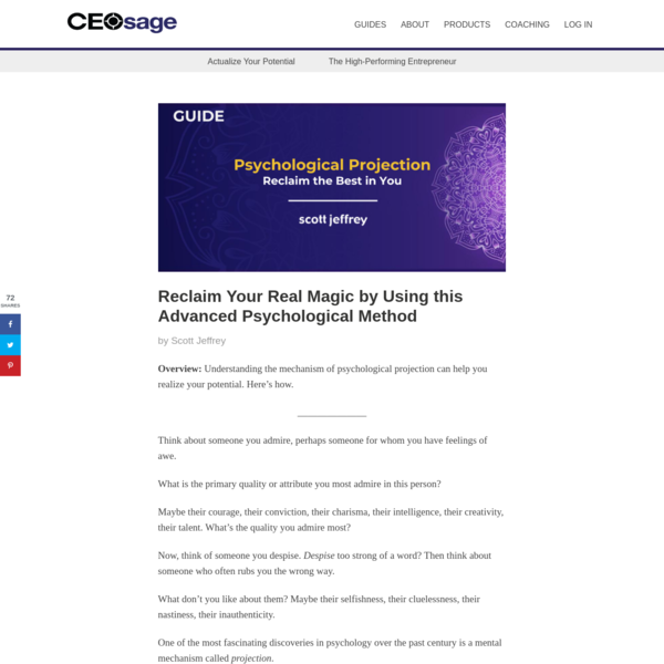 Psychological Projection: How to Reclaim the Best Parts of Yourself