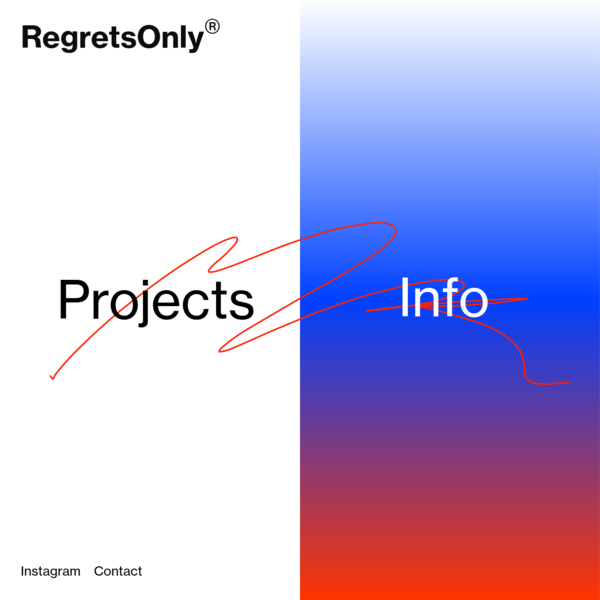 RegretsOnly® - The art and design practice of Caleb Halter