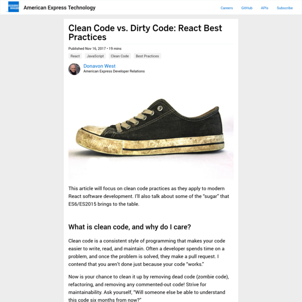 Clean Code vs. Dirty Code: React Best Practices