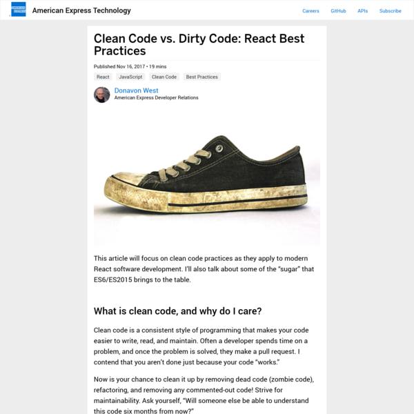 Clean Code vs. Dirty Code: React Best Practices