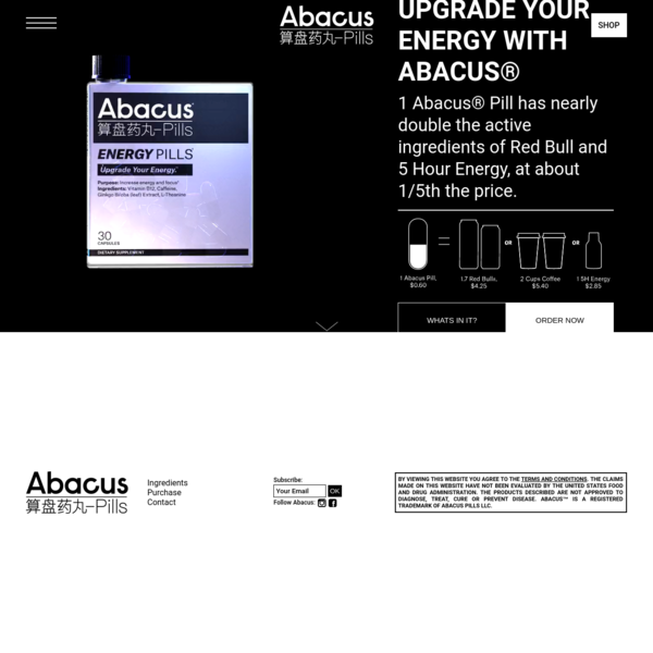 Abacus® Energy Pills