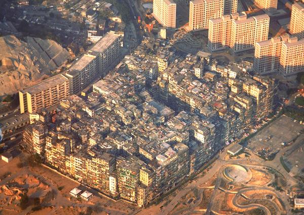 [http://en.wikipedia.org/wiki/Kowloon\_Walled\_City](http://en.wikipedia.org/wiki/Kowloon_Walled_City)
