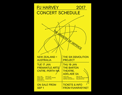PJ HARVEY tour poster