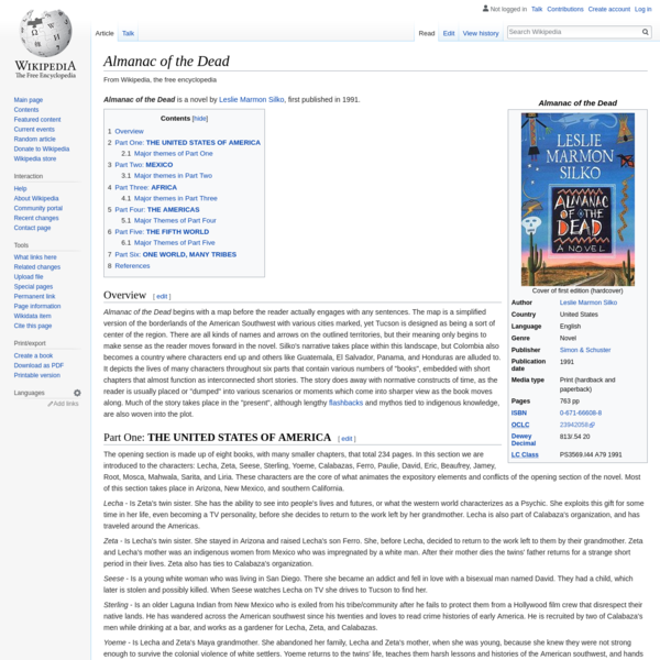 Almanac of the Dead by Leslie Marmon Silko - Wikipedia