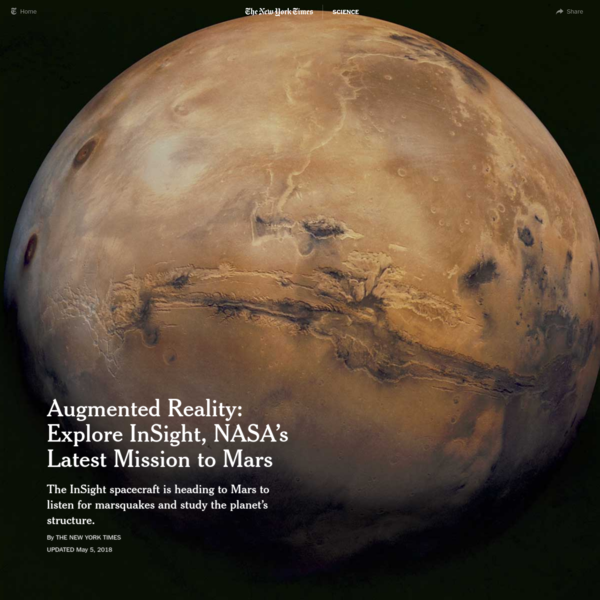 Augmented Reality: Explore InSight, NASA's Latest Mission to Mars