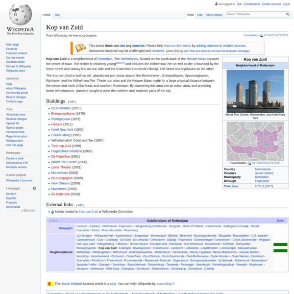 Kop van Zuid - Wikipedia