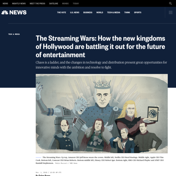 The Streaming Wars: How the new kingdoms of Hollywood are battling it out for the future of entertainment