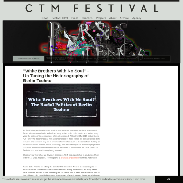 Home of CTM - Festival for Adventurous Music and Art, Berlin.