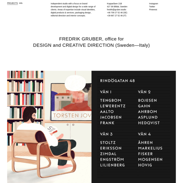 Fredrik Gruber - Design & Direction