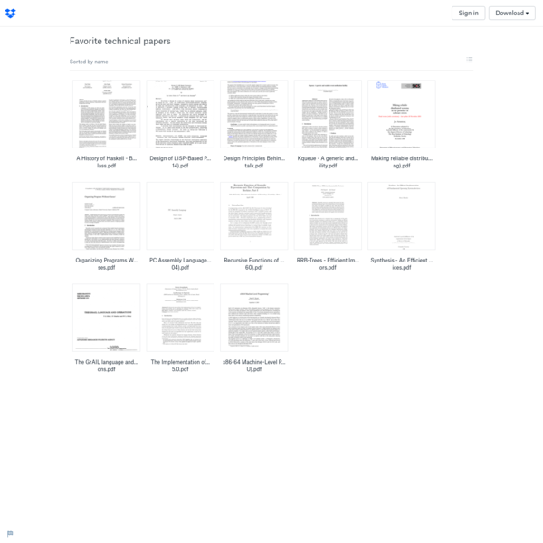 Favorite technical papers - Dropbox