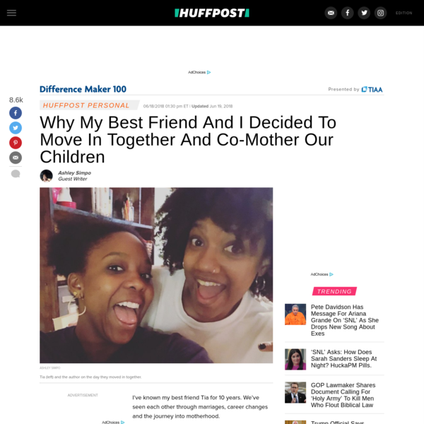 Why My Best Friend And I Decided To Move In Together And Co-Mother Our Children