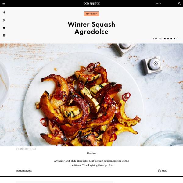 Winter Squash Agrodolce Recipe