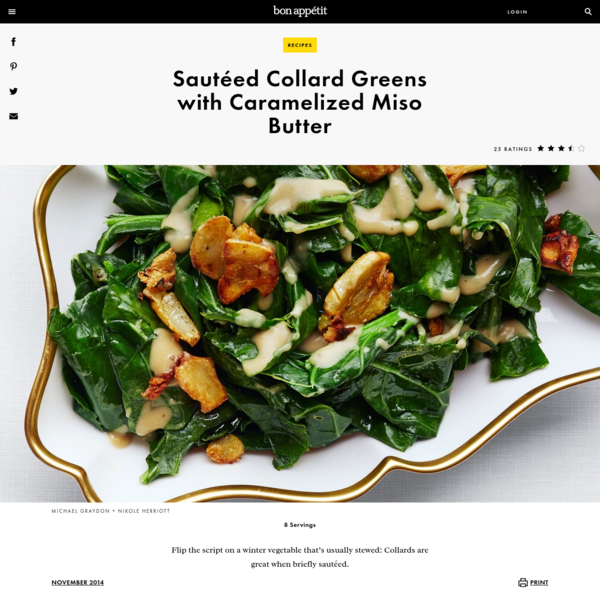 Sautéed Collard Greens with Caramelized Miso Butter Recipe