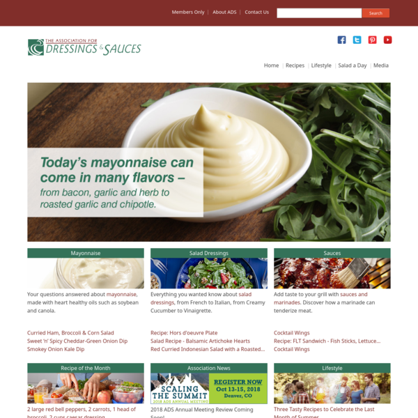 Recipes with salad dressings and sauces
