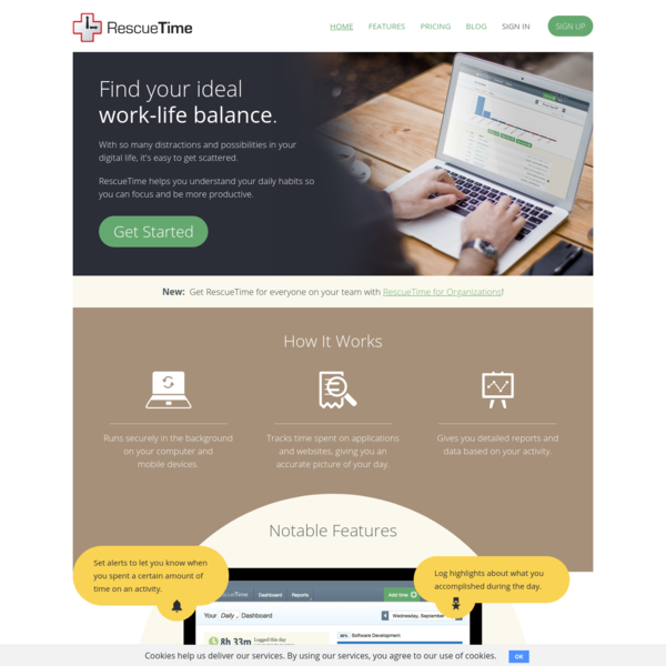 RescueTime : Time management software for staying productive and happy in the modern workplace