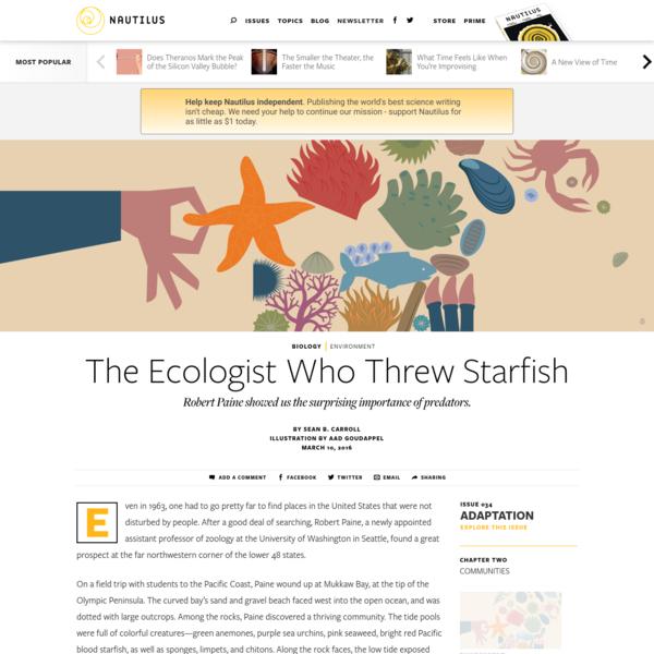 The Ecologist Who Threw Starfish - Issue 34: Adaptation - Nautilus