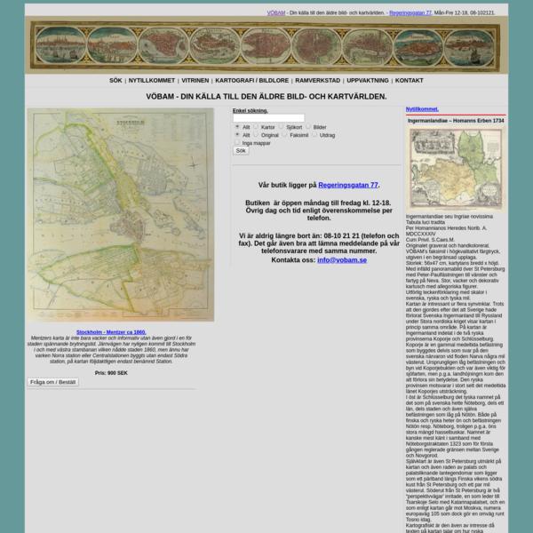 VBAM - Bilder och kartor frn hela vrlden, antika och nytryck.