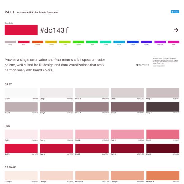 Automatic UI Color Palette Generator
