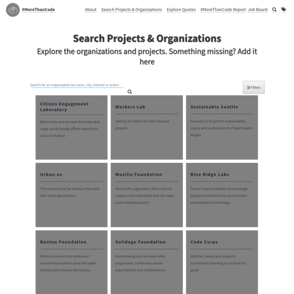 Search Projects & Organizations