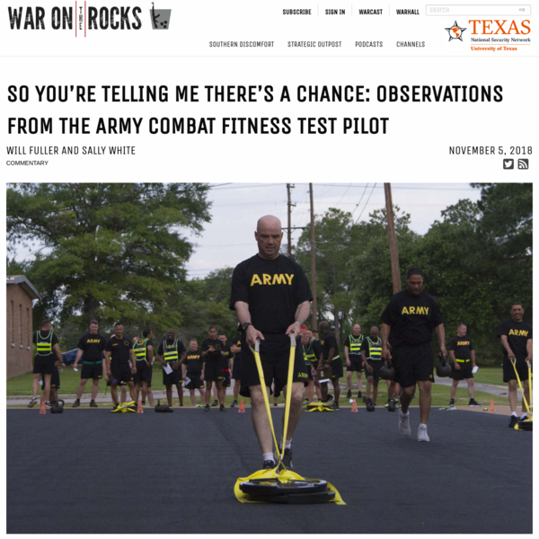 So You're Telling Me There's a Chance: Observations from the Army Combat Fitness Test Pilot - War on the Rocks