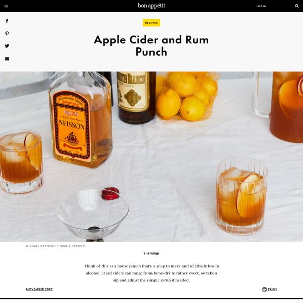 Apple Cider and Rum Punch Recipe