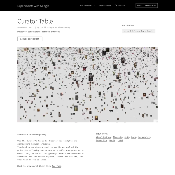 Curator Table by Cyril Diagne & Simon Doury | Experiments with Google
