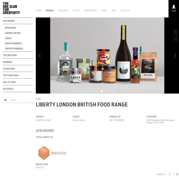 Liberty London / Liberty London British food range