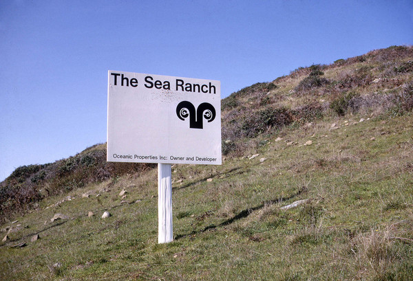 The Sea Ranch entrance sign, 1965  http://searanch.ced.berkeley.edu/s/sea-ranch/item/1953#?c=0&m=0&s=0&cv=0&xywh=-468%2C205%2C2520%2C941