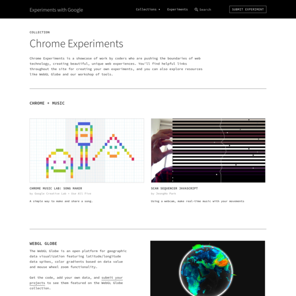 Chrome Experiments | Experiments with Google