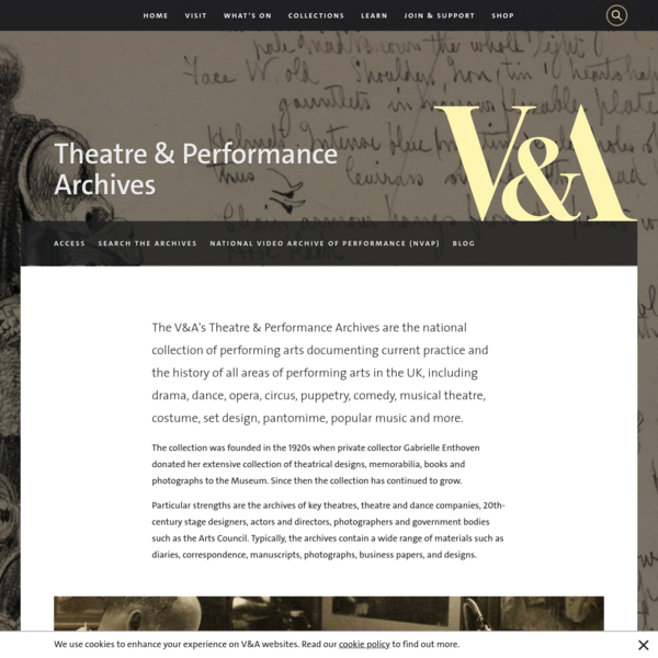 V&A · Theatre & Performance Archives