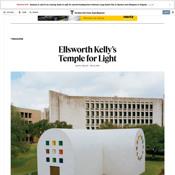Ellsworth Kelly's Temple for Light