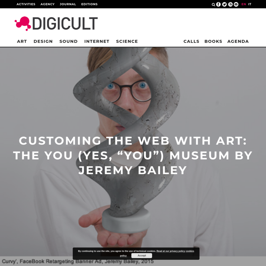 The You Museum by Jeremy Bailey is about pervasiveness of banner ads and exploiting it to insert artworks in the flow of images that constitute Web surfing