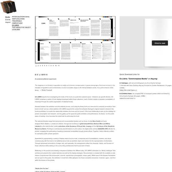 K. Verlag | Press / Books / EX LIBRIS
