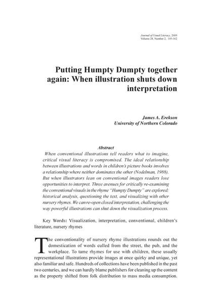 Putting Humpty Dumpty Together