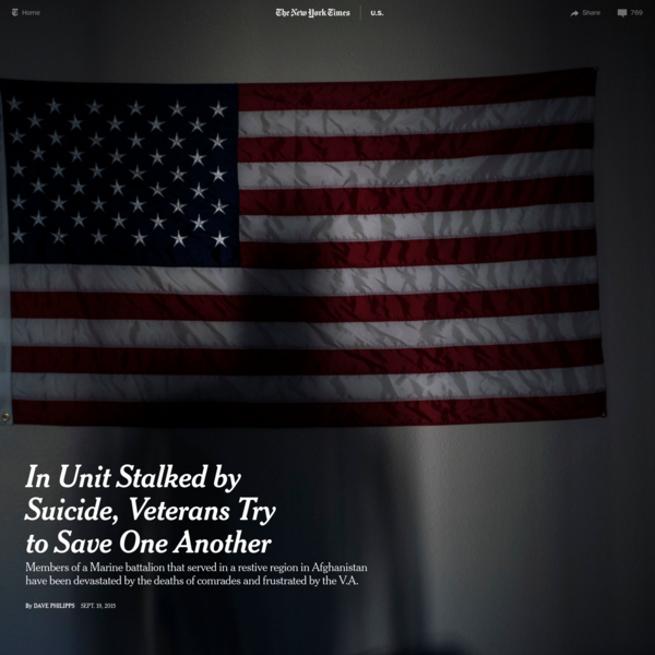 In Unit Stalked by Suicide, Veterans Try to Save One Another