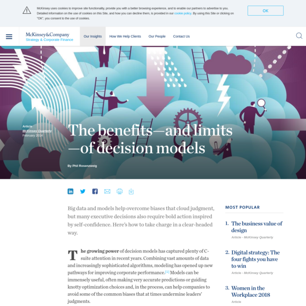 Decision Models; benefits and limits