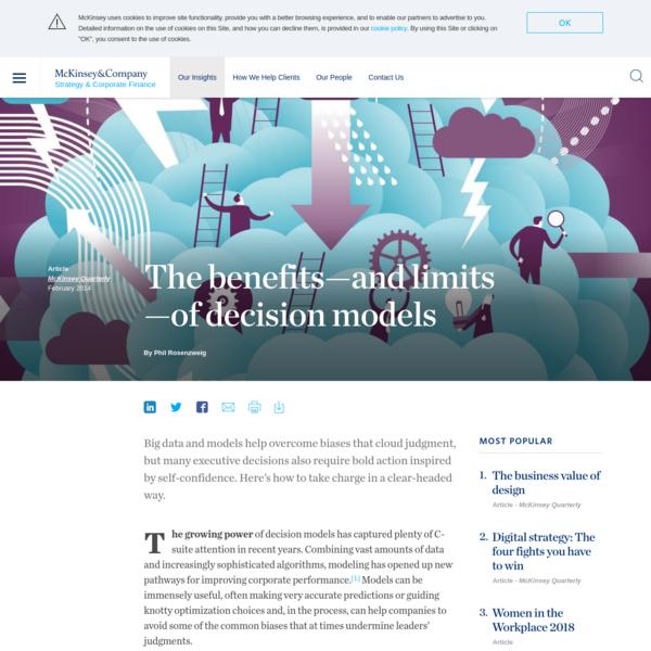 Decision Models; benefits and limits