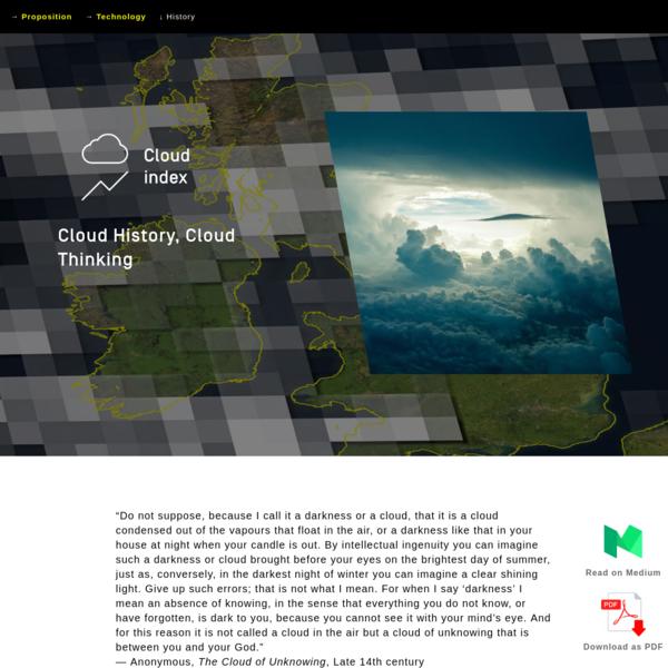 Cloud History, Cloud Thinking - James Bridle