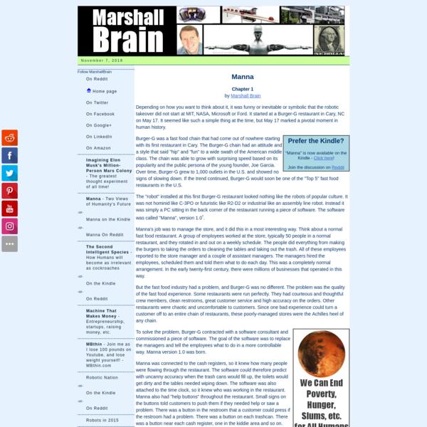 Manna, by Marshall Brain