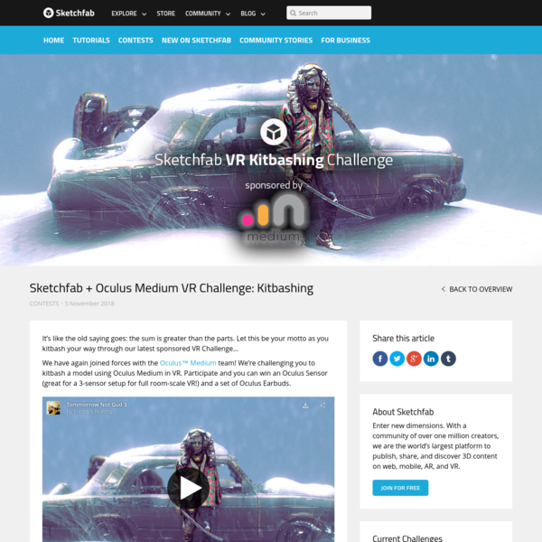 Sketchfab + Oculus Medium VR Challenge: Kitbashing - Sketchfab Blog
