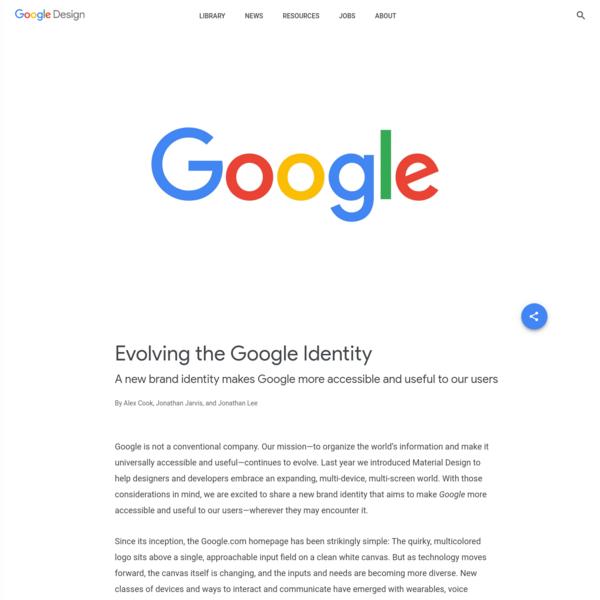 Evolving the Google Identity - Library - Google Design