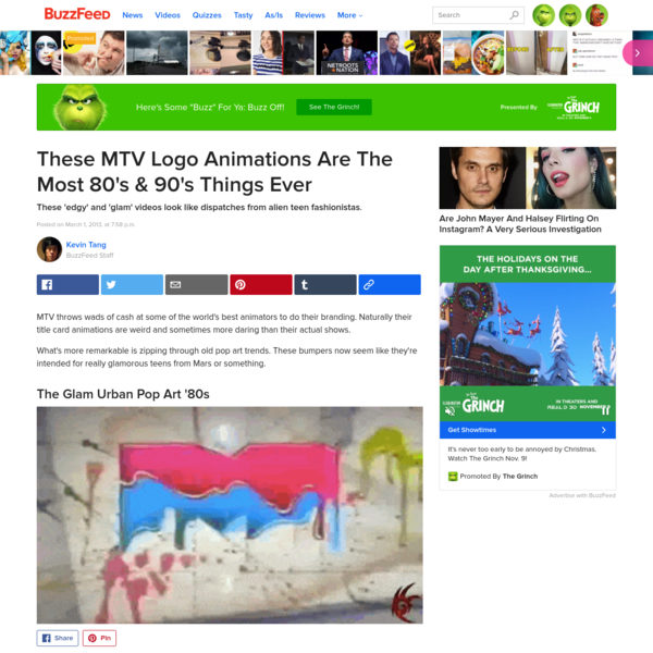 These MTV Logo Animations Are The Most 80's & 90's Things Ever