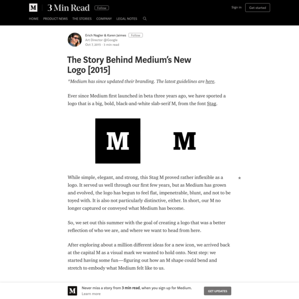 The Story Behind Medium's New Logo [2015] - 3 min read