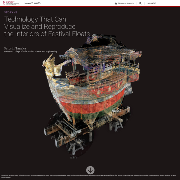 RADIANT Ritsumeikan University Research Report - KYOTO - Technology That Can Visualize and Reproduce the Interiors of Festival Floats