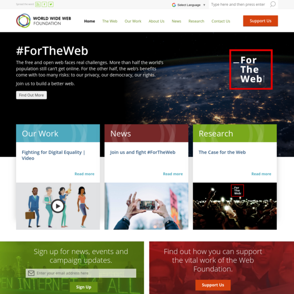 Founded by Tim Berners-Lee, inventor of the Web, the World Wide Web Foundation empowers people to bring about positive change.