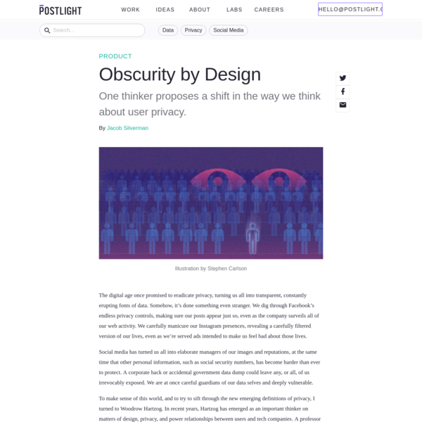 Obscurity by Design