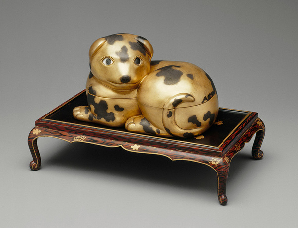 Dog-shaped Box on a Low Table