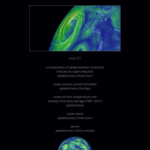 about earth :: a global map of wind, weather, and ocean conditions