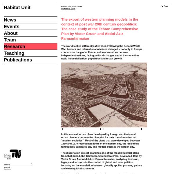 urban planning dissertation ideas