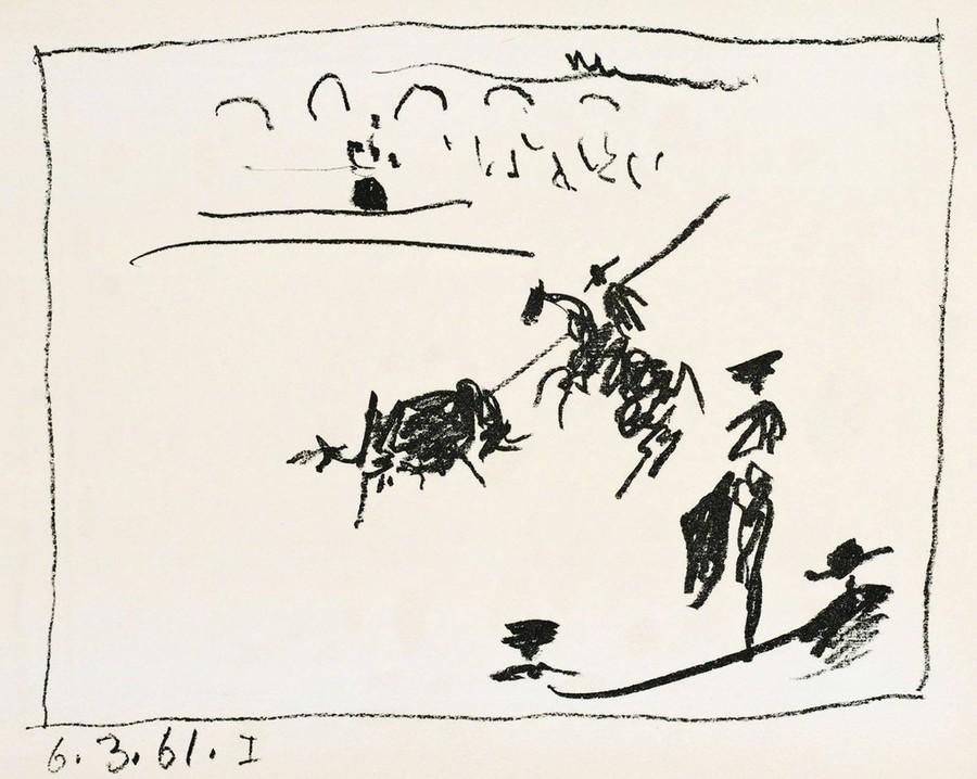 Pablo Picasso, A los toros (1961)